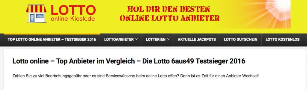 Lotto online Kiosk